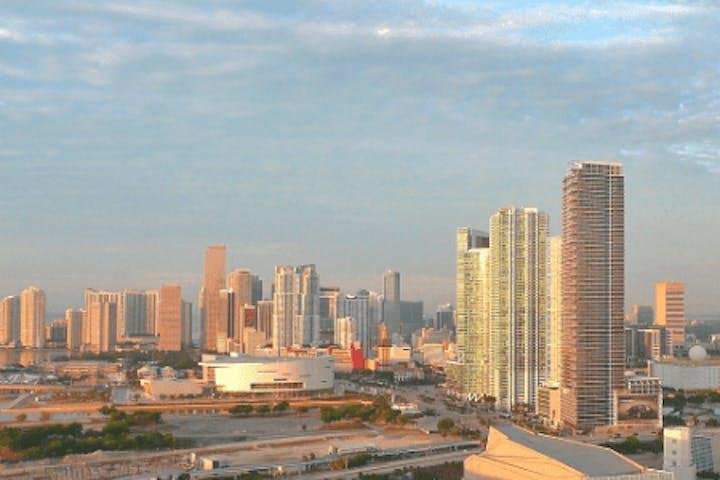 A skyline view of Miami