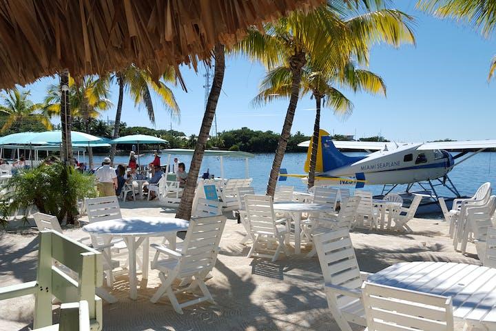 An beachside restaurant
