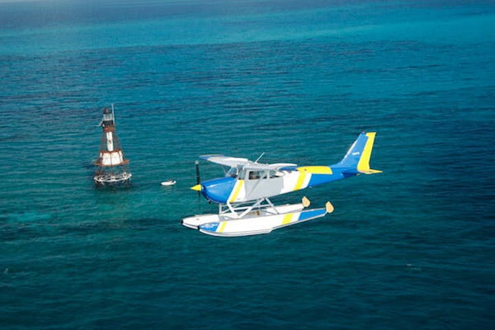A seaplane over water