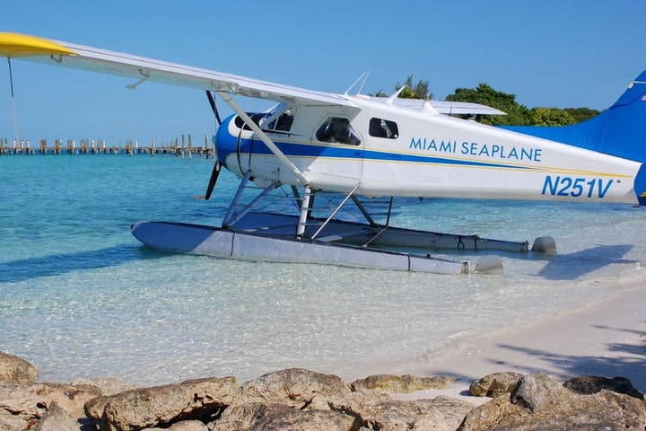 A seaplane in water