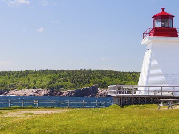 Neils Harbour Lighthouse in Nova Scotia