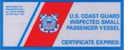 US Coast Guard Inspected badge