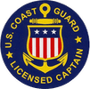 US Coast Guard Licensed Captain badge
