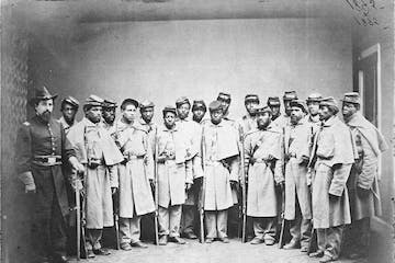 Group of black civil war soldiers