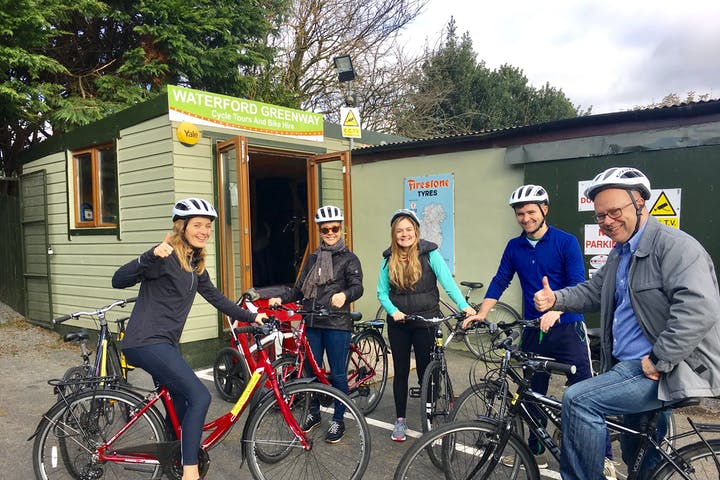 Tourists at Waterford Greenway Cycle Tours & Bike Hire