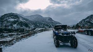 atv parked in snow