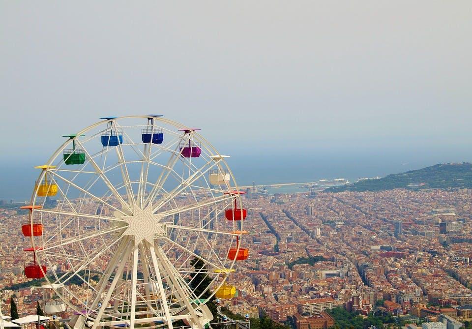 Tibidabo park in Barcelona