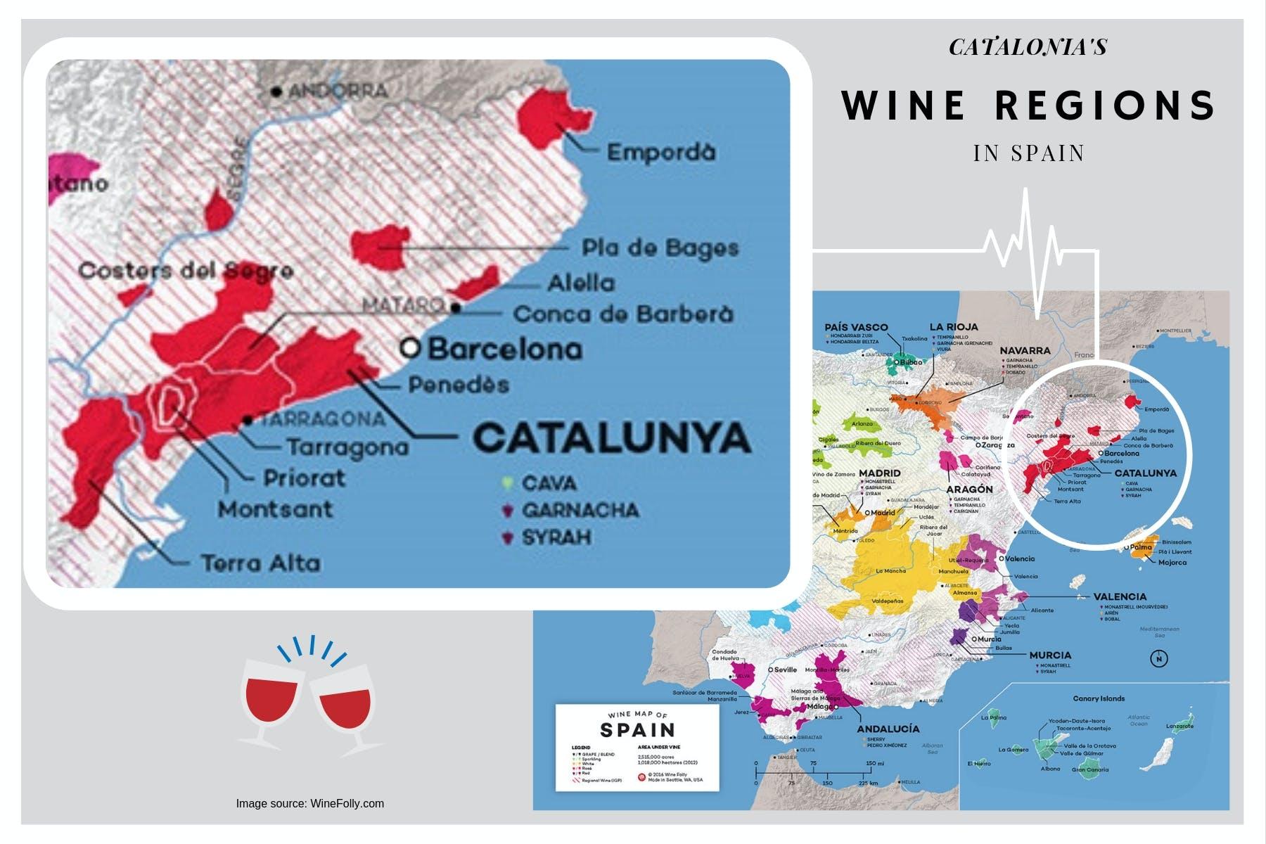 Catalonia wine region in Spain