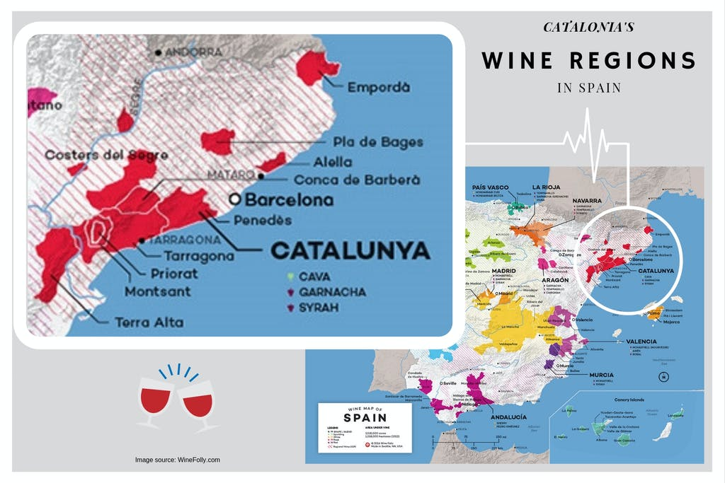 Catalonia wine region in Spain