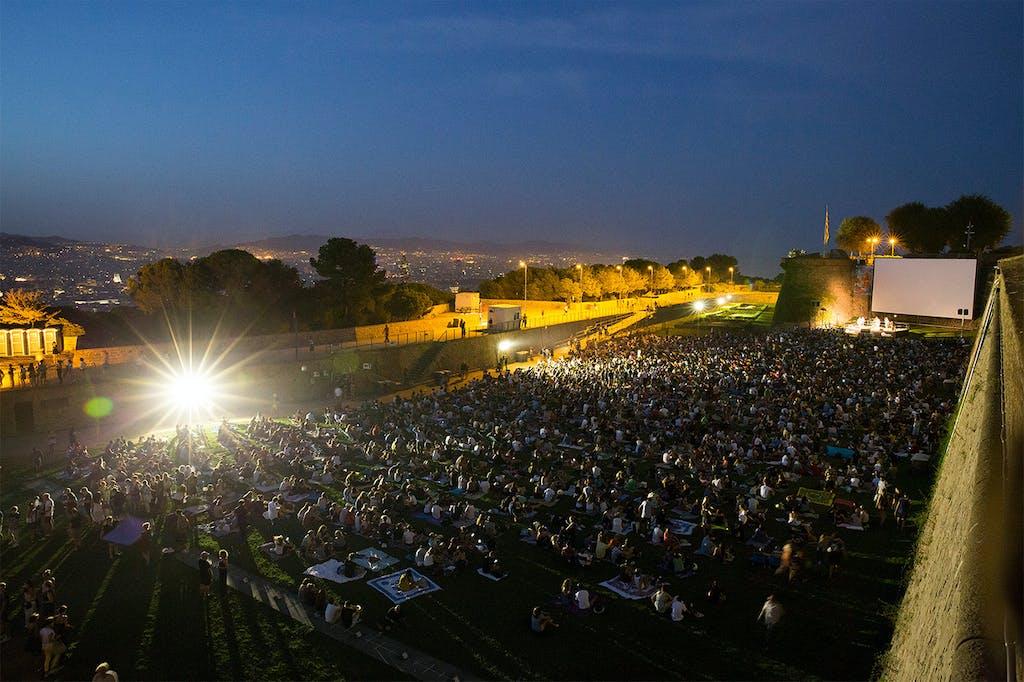 air open cinema in barcelona