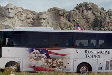 Mount Rushmore Tour bus