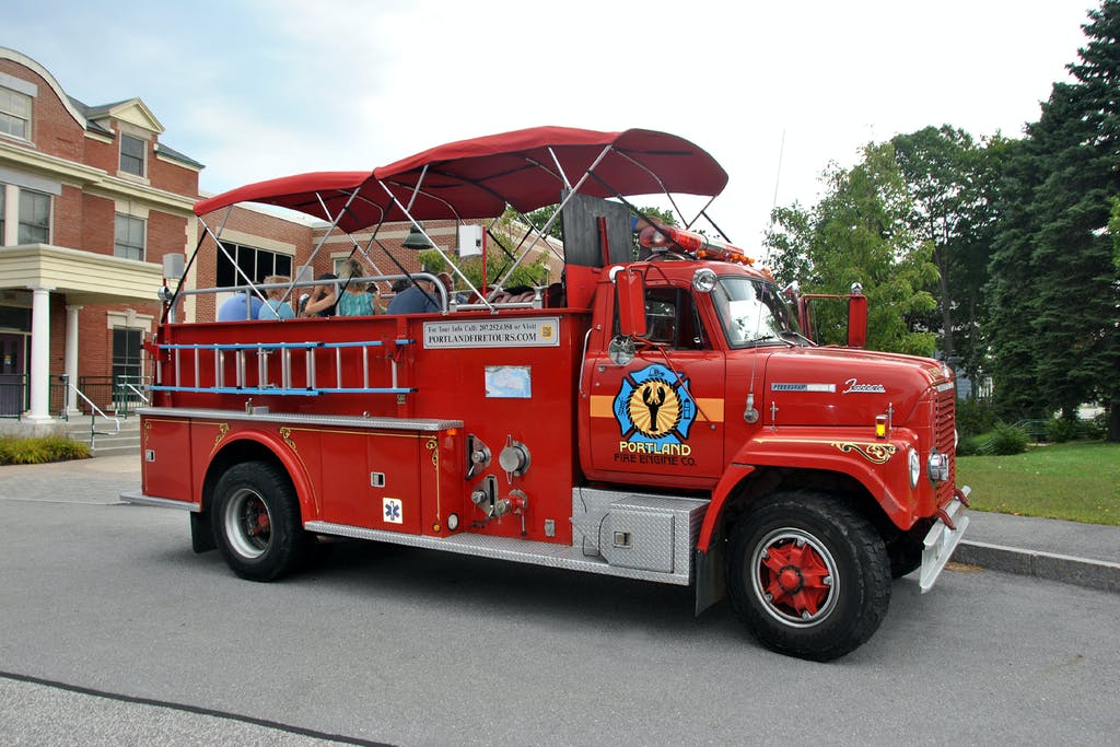 Portland Fire Engine Co. Red Truck