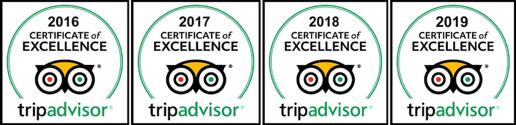 Tripadvisor Certificate of Excellence 2016 2017 2018 2019