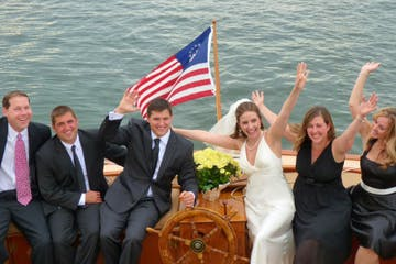 sailboat wedding party