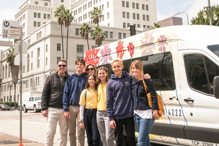 Smiling group of Best Coast Tourist