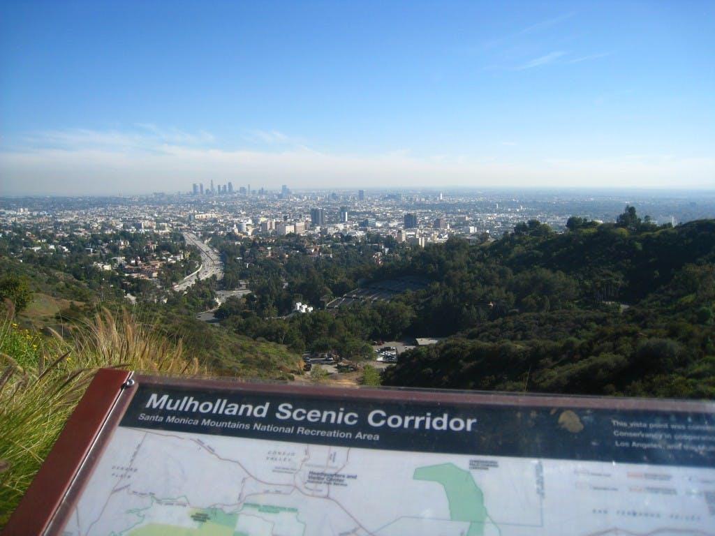 Mulholland Scenic Corridor map