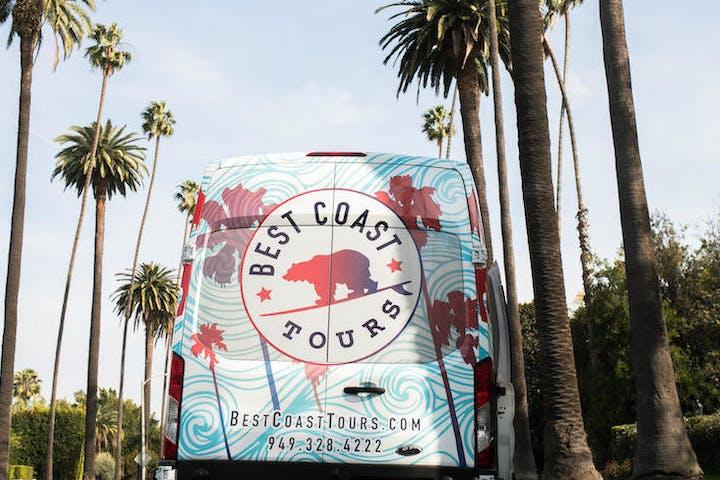 Back of Best Coast Tours tour van