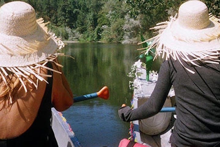 two ladies enjoying the rio trip