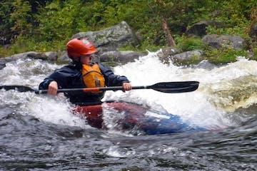 kid kayaking deerfield river