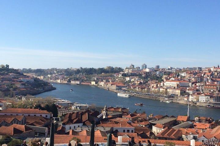 A top view of Porto