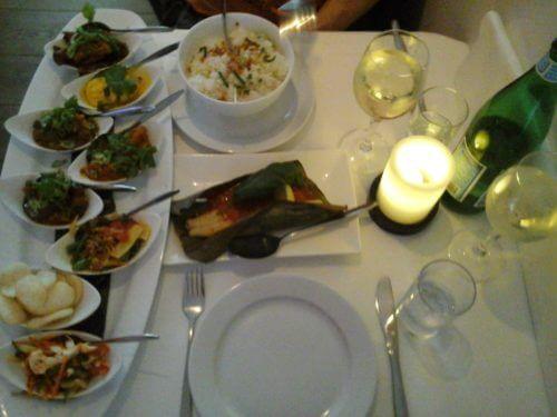 Food at Max Restaurant