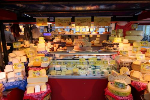 Cheeses at Dapper Markt
