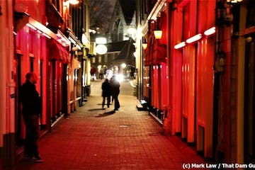 Amsterdam Red Light District Tour Alley at night