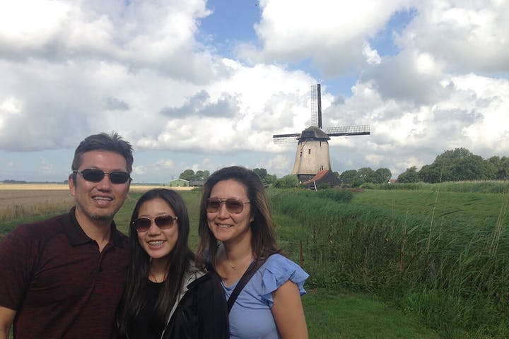 Amsterdam Windmill Tour Family in front of a Windmill