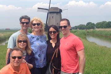 Amsterdam Windmill Tour group in front of a windmill