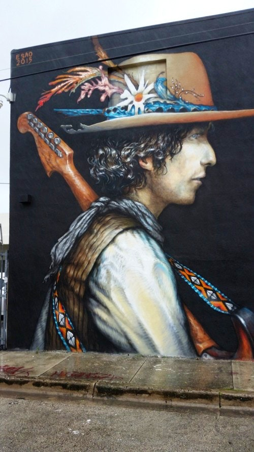 Bob Dylan wall by Esao