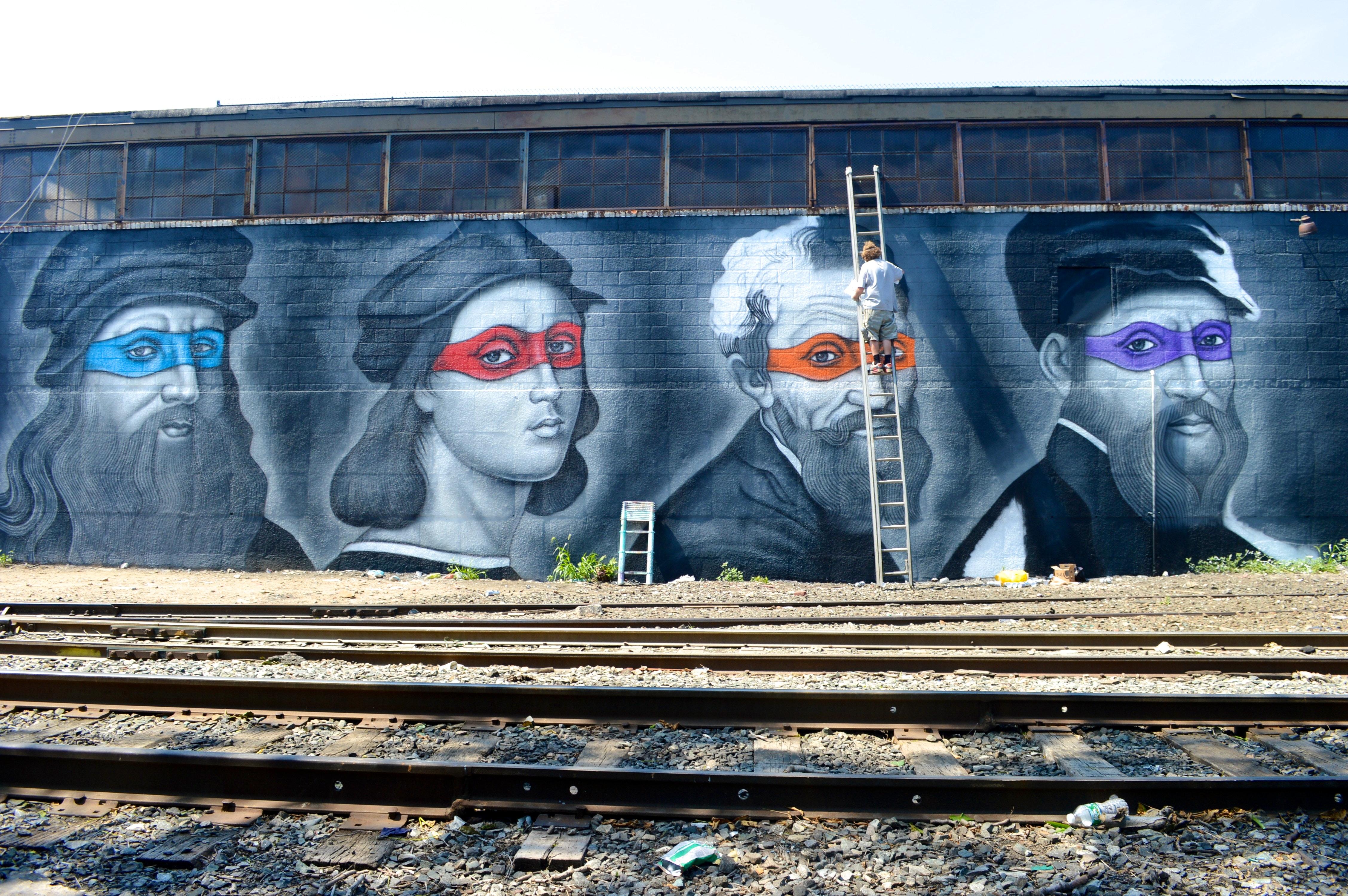 OD at Work on the four Ninja art Turtles