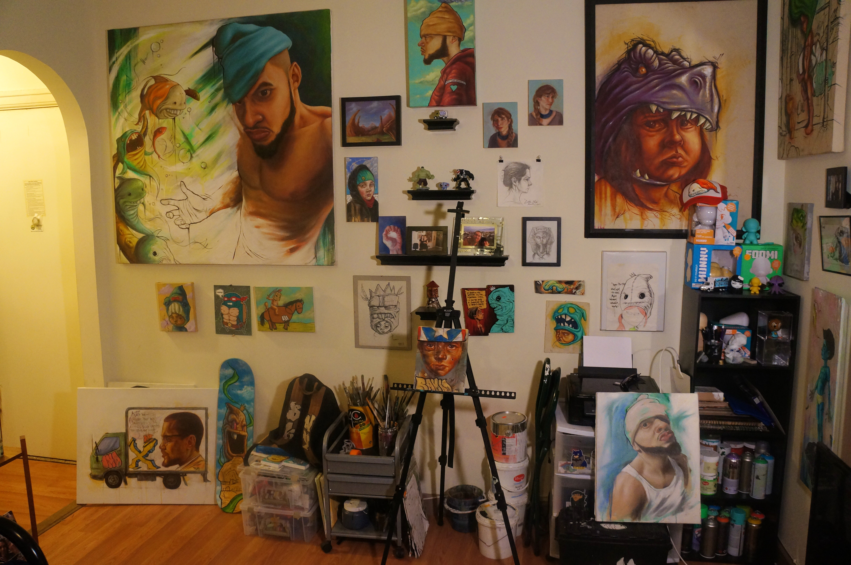 Rob Plater's Studio Detail shot 1