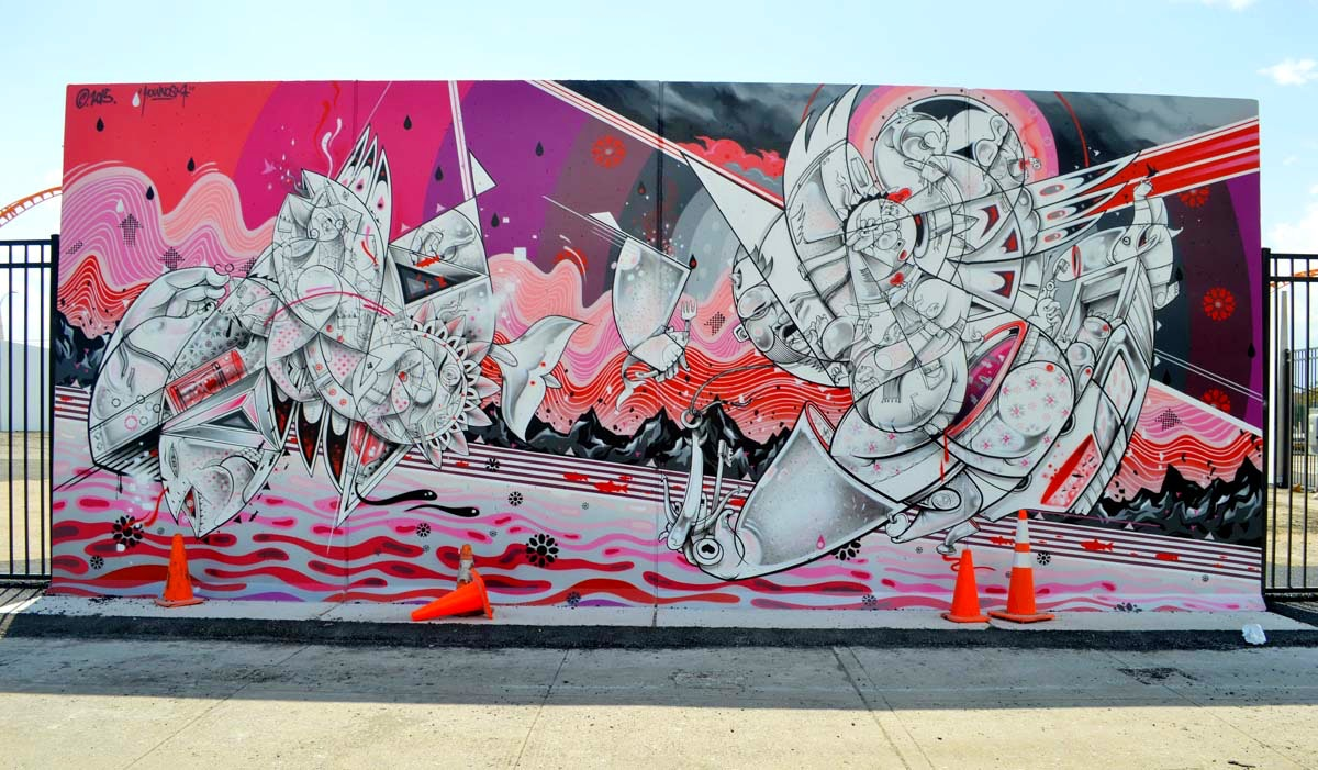 How and Nosm's completed work for Coney Walls