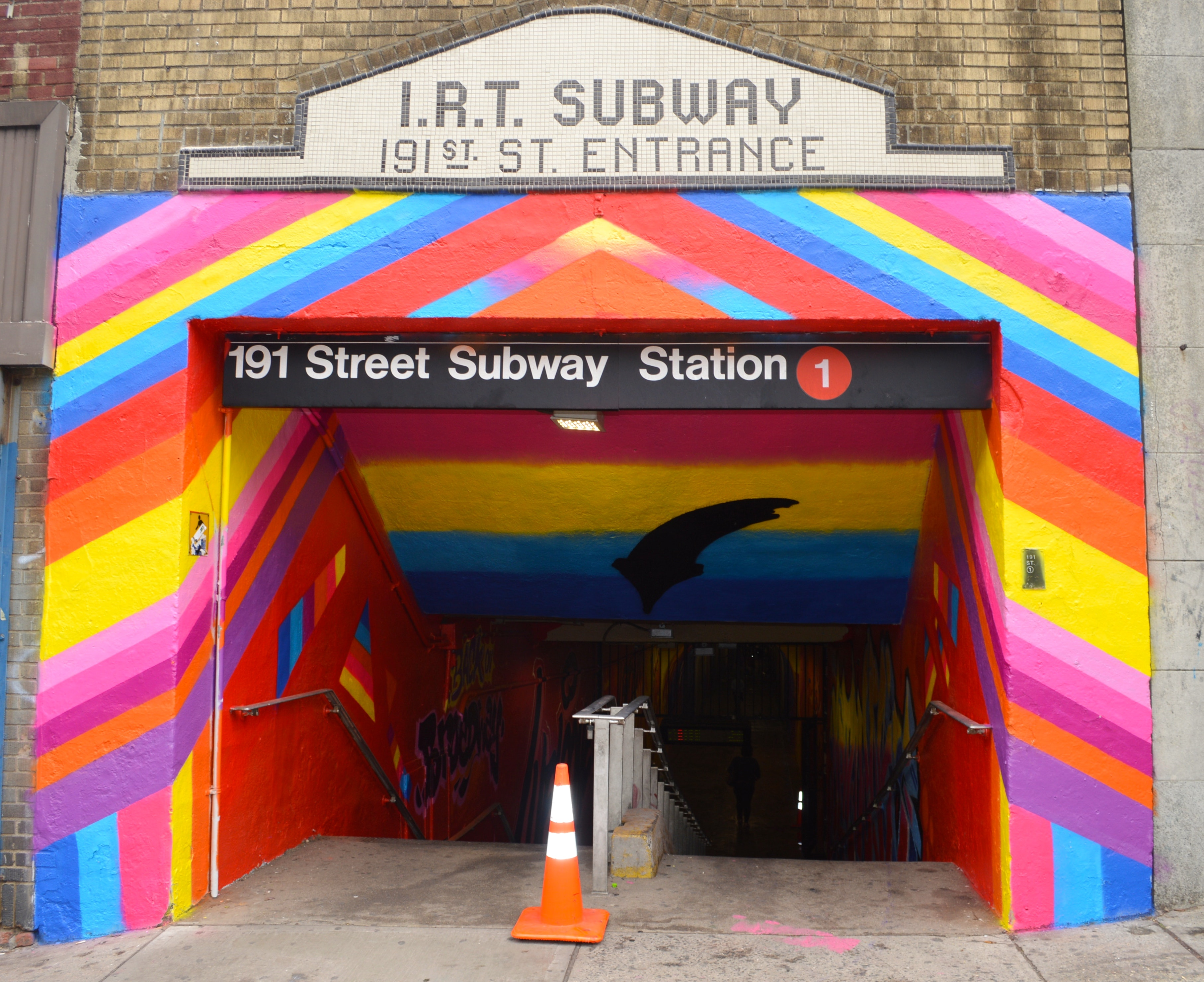 191 St. Subway Station Entrance after the DOT Beautification Project