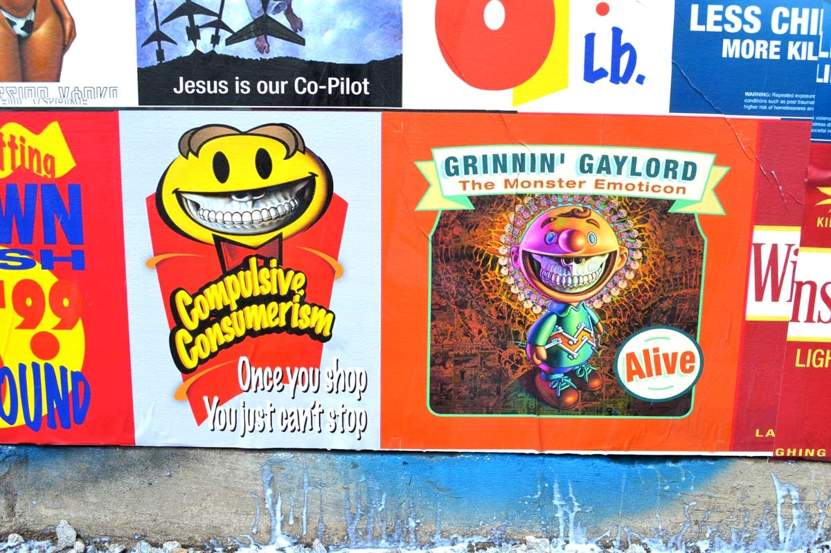 The political and satirical paste ups