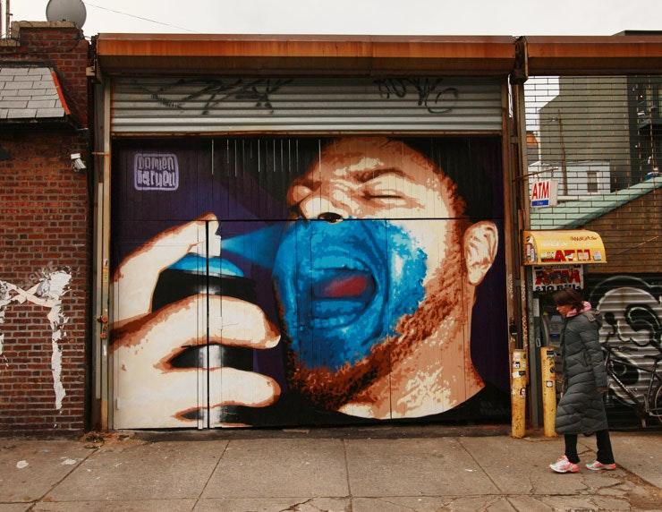 Damien Mitchell Mural in Williamsburg