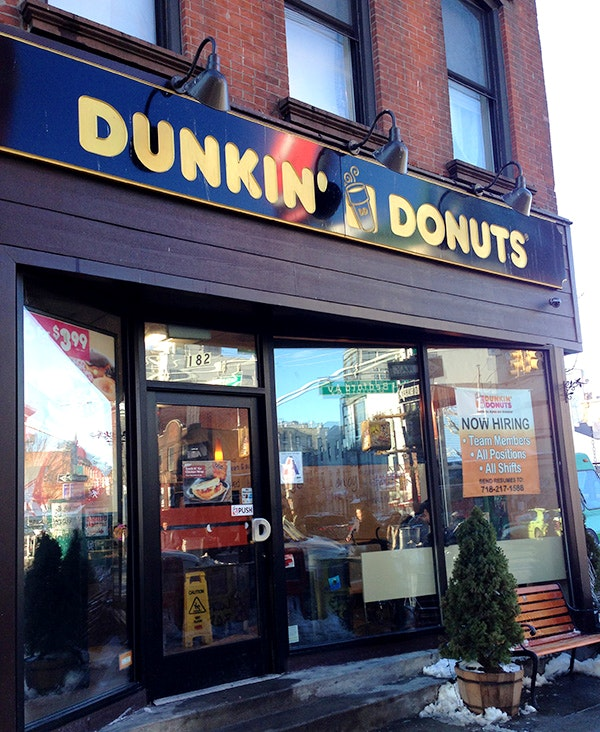 Dunkin' Donuts on Bedford Avenue in Williamsburg