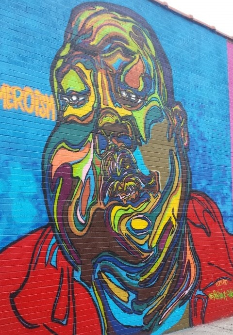 Fumero's self Portrait at Halsey Street