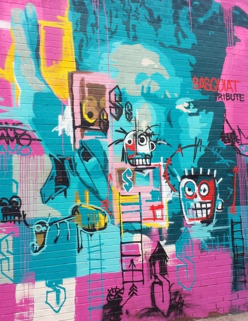 Zimad's tribute to Jean-Michael Basquiat on Harman St.