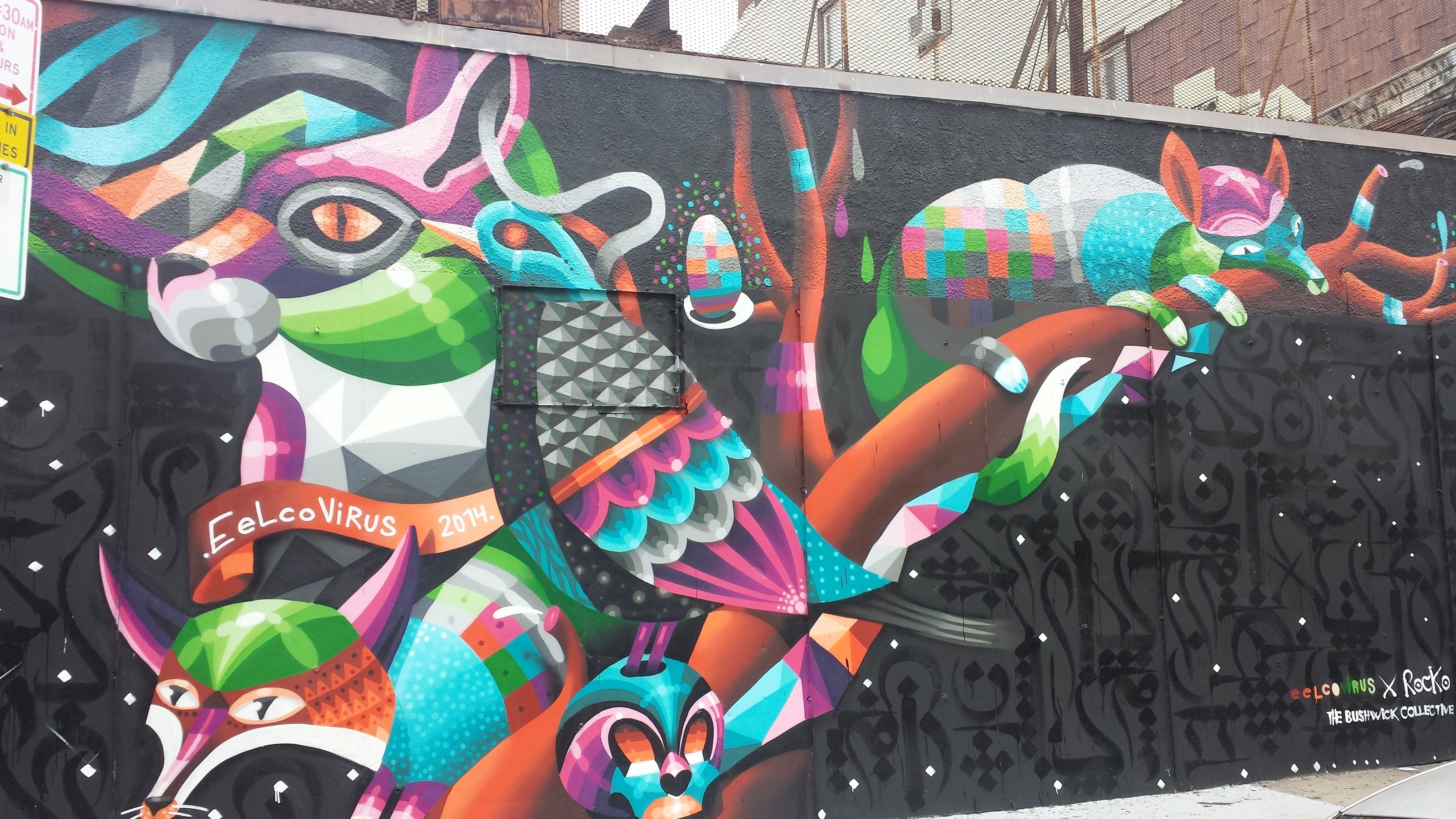 Eelco Virus and Rocko Collaboration wall