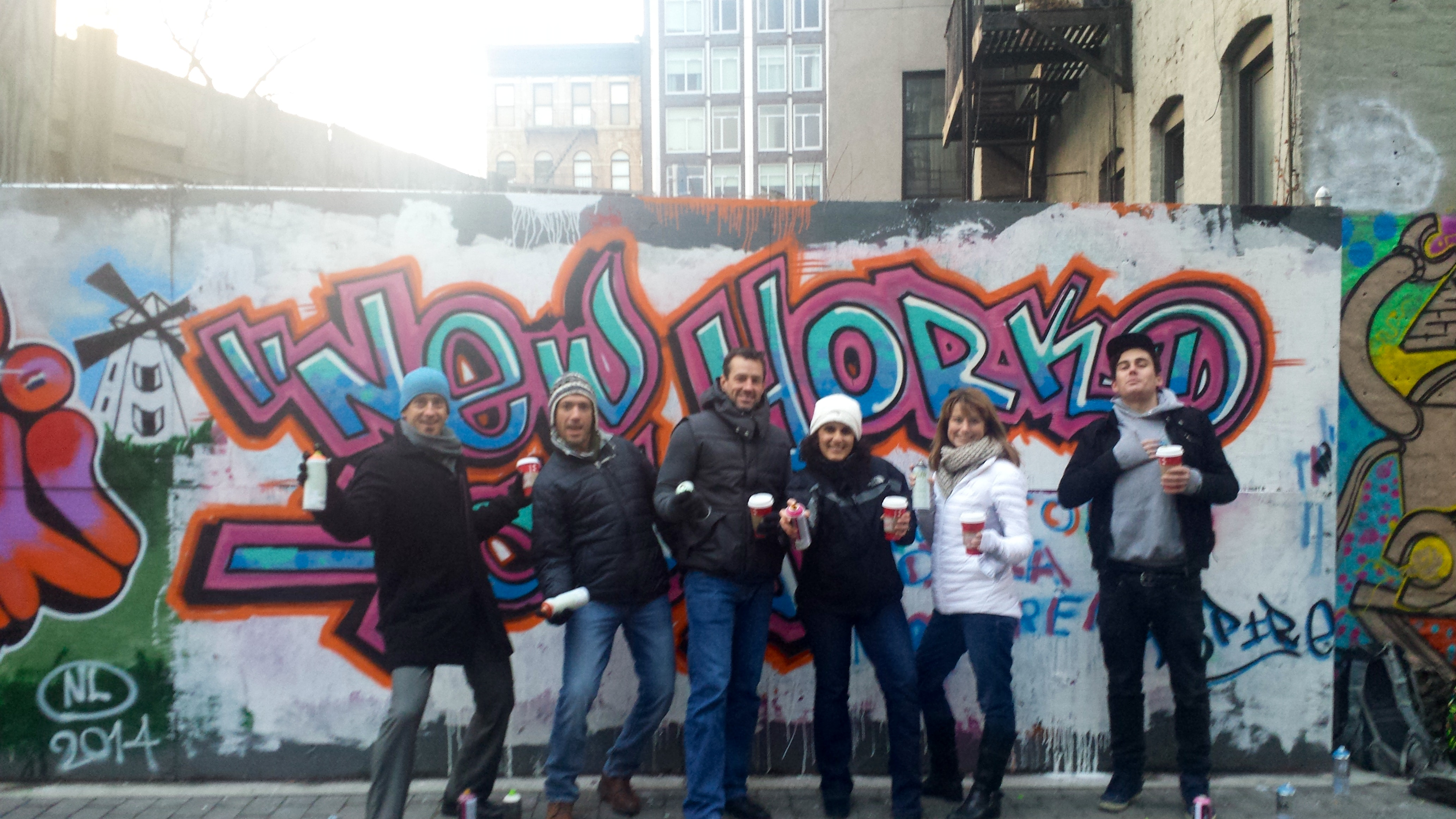 Damien Mitchell with a group for Graff Tours
