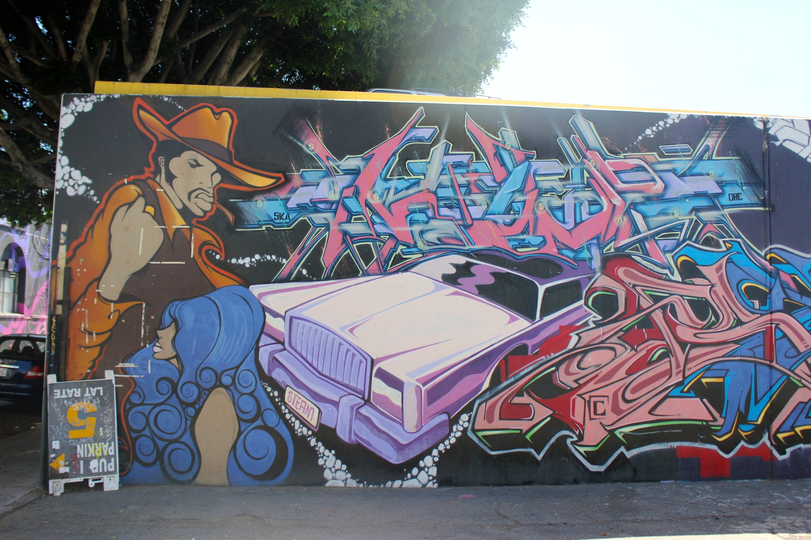 UTI Crew redid their wall outside of Art Share LA