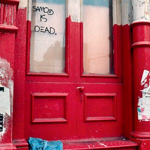 Photo of tag by SAMO (aka Basquiat) Robert Herman from his book