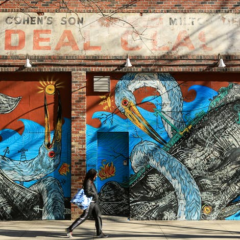 Mural by LNY, photo courtesy of Ideal Glass
