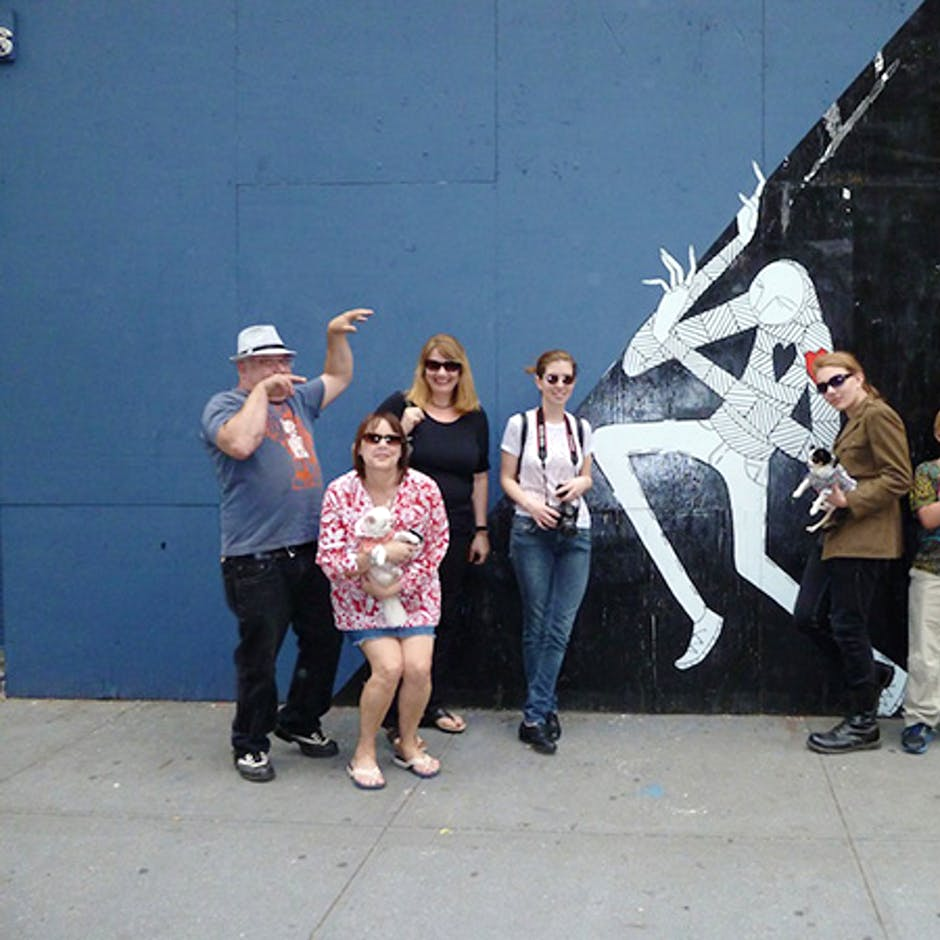 Graff Tours Group in front of the mural by Know Hope