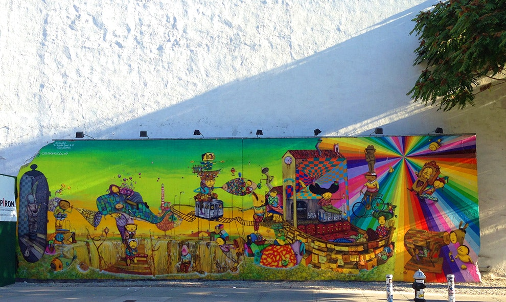 OSGEMEOS' Houston Bowery Wall