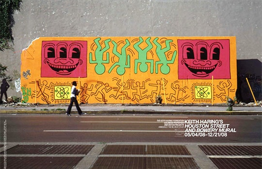 Keith Haring's wall from 1982