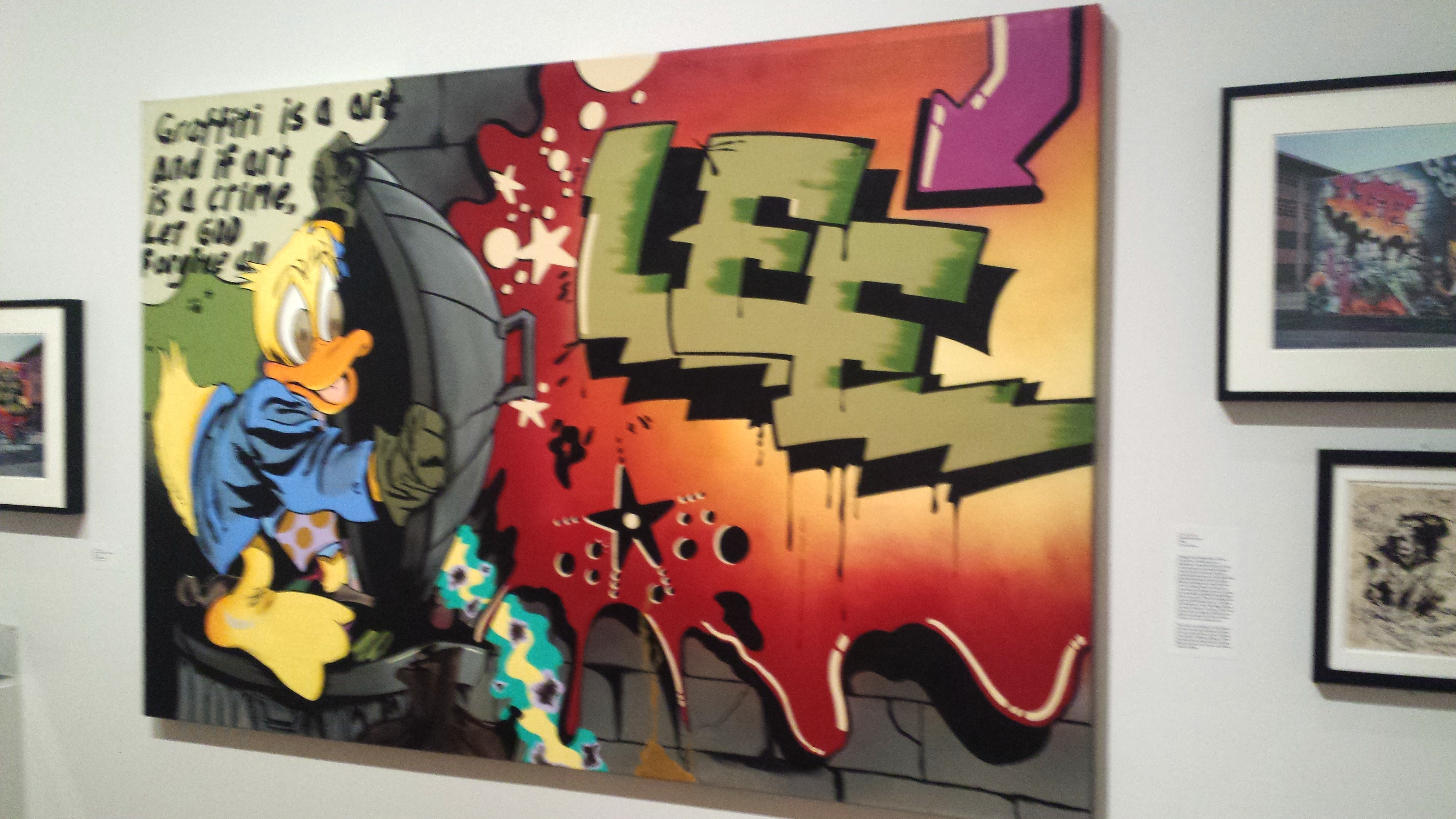 Lee Quinones piece from the City as Canvas Exhibit