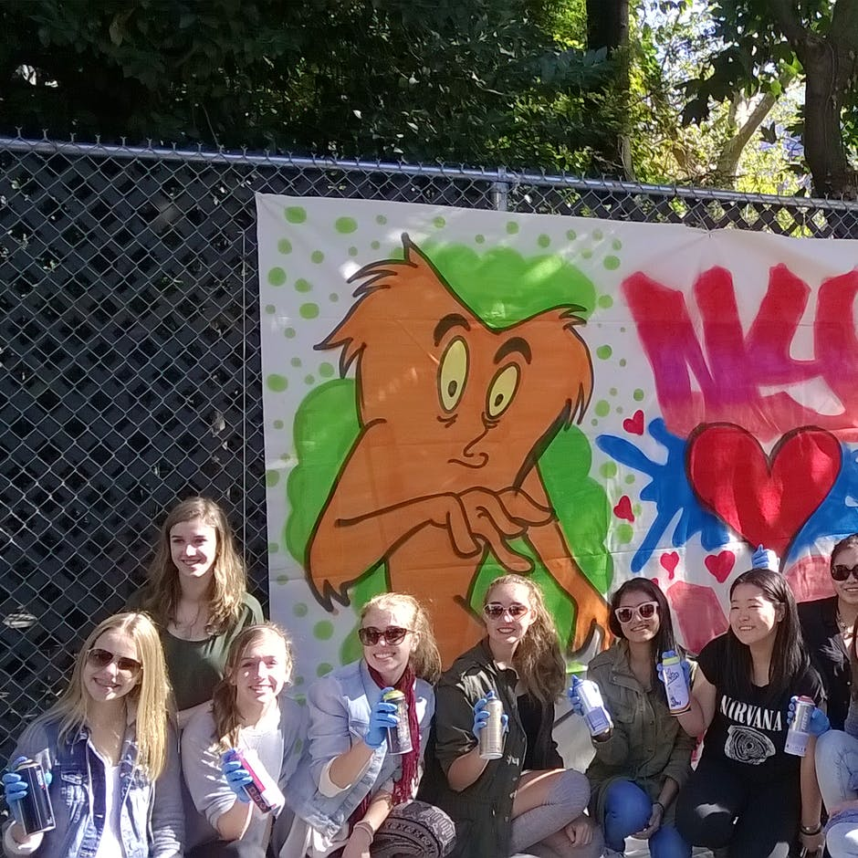 Workshop on Canvas with High School Students from Virginia – Workshop led by CRAM – Oct. 2015