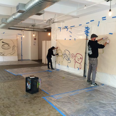 JPO and Zuki Art sketch designs for our indoor Graffiti event – Dumbo Brooklyn 2015
